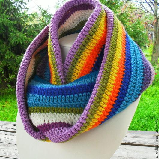 шарф,шарф-снуд,шарф-труба,модный аксессуар,шарф-хомут,подарок,новогодний подарок