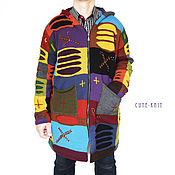 Одежда handmade. Livemaster - original item Men`s cardigan long knitted