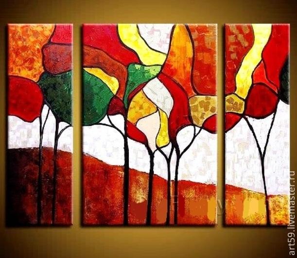 Triptych 'Golden autumn' No. №2, Pictures, St. Petersburg,  Фото №1