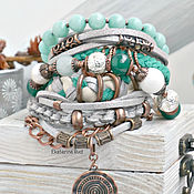 Украшения handmade. Livemaster - original item Bracelet on hand with beautiful stones