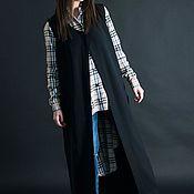 Одежда handmade. Livemaster - original item Summer, Black, Long Sleeveless Vest-VE0311GE. Handmade.