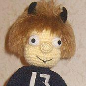 Куклы и игрушки ручной работы. Ярмарка Мастеров - ручная работа Вязаная игрушка Чертёнок № 13. Handmade.