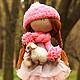 Коллекционные куклы ручной работы. Ярмарка Мастеров - ручная работа. Купить Нюша с овечкой. Handmade. Розовый, кукла с овечкой