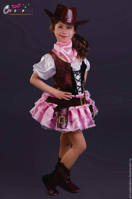 Детские карнавальные костюмы ручной работы. Ярмарка Мастеров - ручная работа. Купить костюм ковбойши 2. Handmade. Коричневый, ковбойша