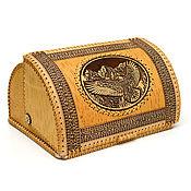 Для дома и интерьера handmade. Livemaster - original item Bread box made of birch bark large