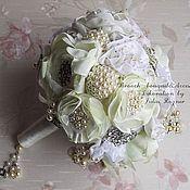 Свадебный салон handmade. Livemaster - original item White brooch bouquet Love is Vintage. Handmade.