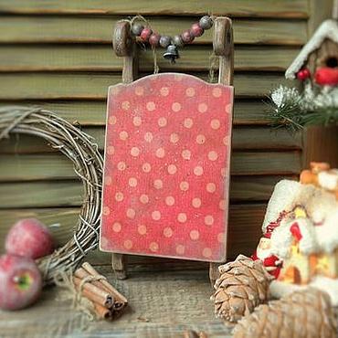"""Куклы и игрушки ручной работы. Ярмарка Мастеров - ручная работа Сани новогодние """"Клюква в сахаре"""". Handmade."""