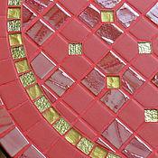 """Для дома и интерьера ручной работы. Ярмарка Мастеров - ручная работа """"Золотые пуговки"""" столик с мозаикой. Handmade."""