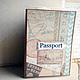 Обложки ручной работы. Обложки на паспорт Мое путешествие Подарок для пары Для документов. Скрап-Мельница. Семейные подарки (scrap-melnica). Ярмарка Мастеров.