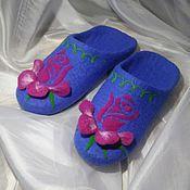 Обувь ручной работы. Ярмарка Мастеров - ручная работа Rose. Валяные тапочки.. Handmade.