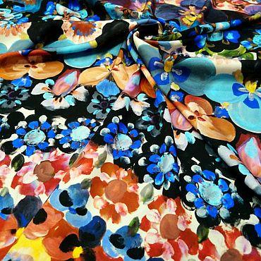 Материалы для творчества ручной работы. Ярмарка Мастеров - ручная работа Шелк стрейч Dior. Handmade.
