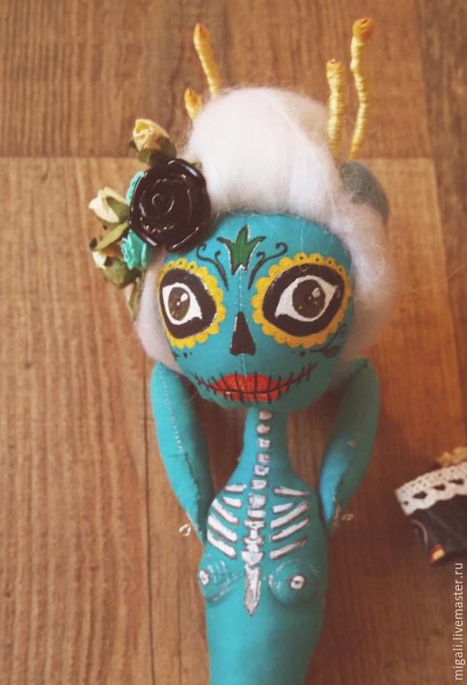 Сказочные персонажи ручной работы. Ярмарка Мастеров - ручная работа. Купить День  мертвых. Handmade. Бирюзовый, кукла ручной работы
