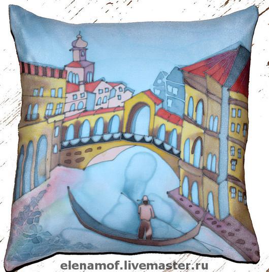 Текстиль, ковры ручной работы. Ярмарка Мастеров - ручная работа. Купить Подушка Венеция. Handmade. Декоративная подушка, шёлковая подушка