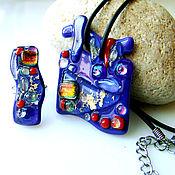 Украшения handmade. Livemaster - original item Set of glass ornaments. Mystery 1.  fusing. glass. Handmade.