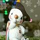 Мишки Тедди ручной работы. Ярмарка Мастеров - ручная работа. Купить Веселые снеговики. Handmade. Белый, зима, снеговичок