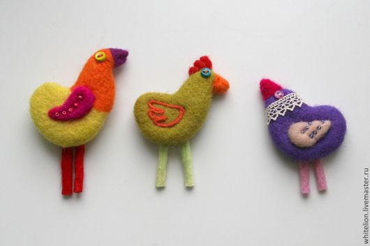 Броши ручной работы. Ярмарка Мастеров - ручная работа. Купить Птички на любой вкус и цвет. Handmade. Разноцветный, удивительный подарок