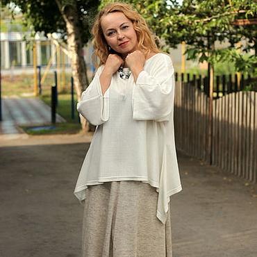 Одежда ручной работы. Ярмарка Мастеров - ручная работа Юбка льняная в бохо стиле нарядная. Handmade.