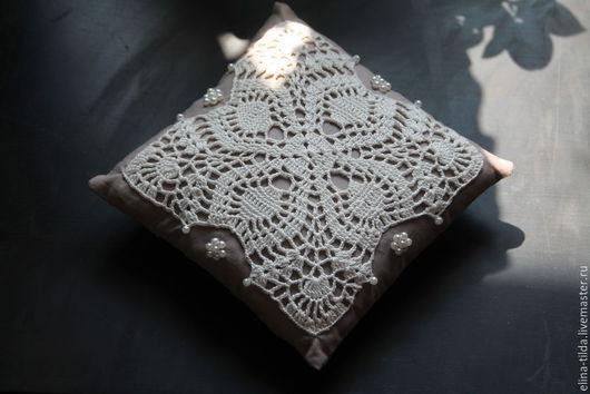Текстиль, ковры ручной работы. Ярмарка Мастеров - ручная работа. Купить Кружевное саше-подушечка. Handmade. Серый, винтаж, подушечка