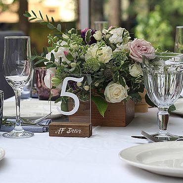 Свадебный салон ручной работы. Ярмарка Мастеров - ручная работа Аксессуары: Номерок стола. Handmade.