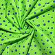 Шитье ручной работы. Ярмарка Мастеров - ручная работа. Купить Американский хлопок-фланель  ЯРКИЙ ГОРОШЕК на зеленом фоне. Handmade.