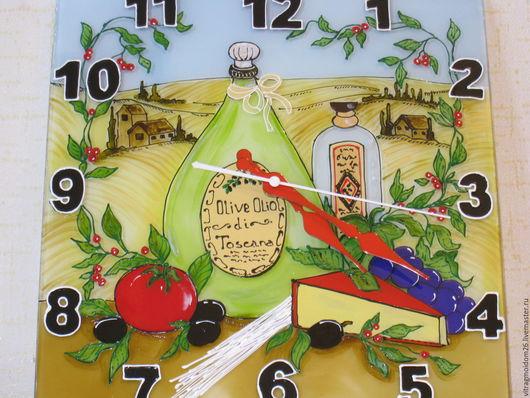 Часы для дома ручной работы. Ярмарка Мастеров - ручная работа. Купить Настенные кухонные часы Натюрморт с голландским сыром.. Handmade.