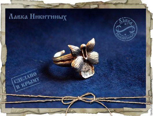 """Кольца ручной работы. Ярмарка Мастеров - ручная работа. Купить Кольцо """"Дикая орхидея"""". Handmade. Кольцо, серебряное кольцо"""