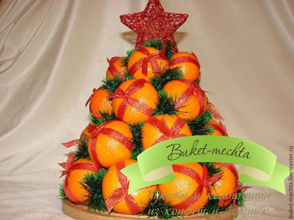 Новогодняя елка из мандаринов своими руками