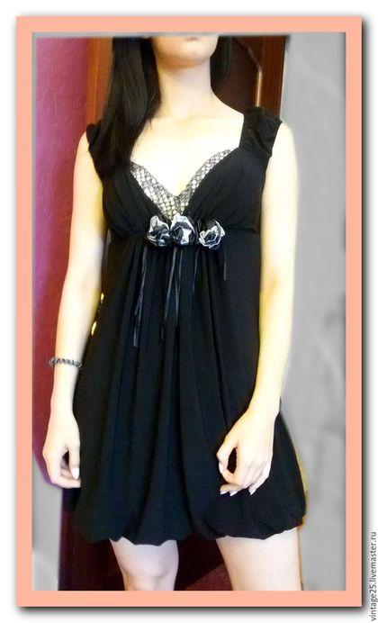 Одежда. Ярмарка Мастеров - ручная работа. Купить Маленькое черное платье из дома моделей. Handmade. Черный, платье, винтажное платье