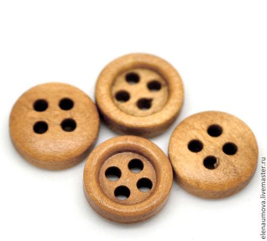 Шитье ручной работы. Ярмарка Мастеров - ручная работа. Купить Пуговицы деревянные 11мм 10штук. Handmade. Пуговицы, пуговица, для отделки