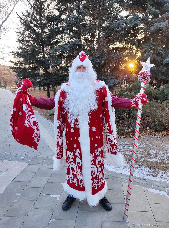 """Костюм Деда Мороза """"Царский"""", бордовый, Костюмы, Волжский,  Фото №1"""