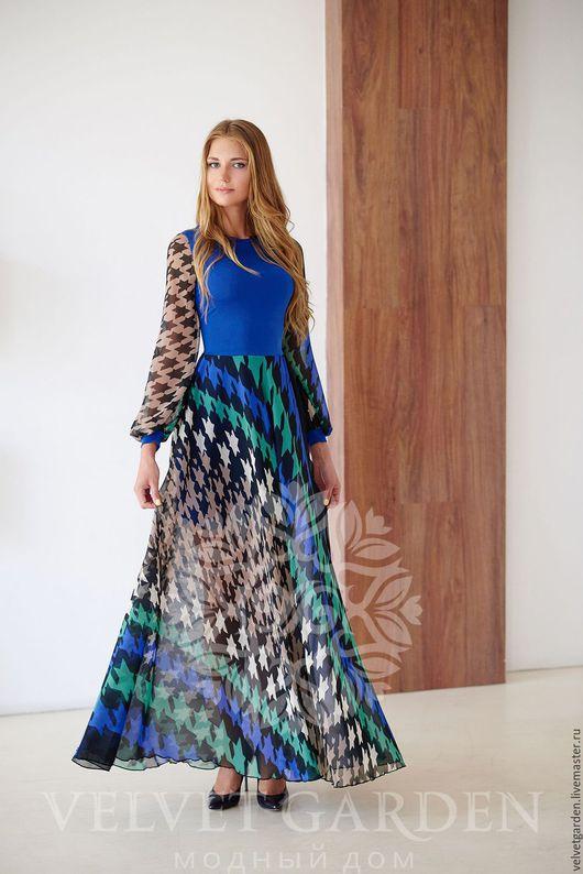 """Платья ручной работы. Ярмарка Мастеров - ручная работа. Купить Платье """" Синее море """". Handmade. Тёмно-синий"""