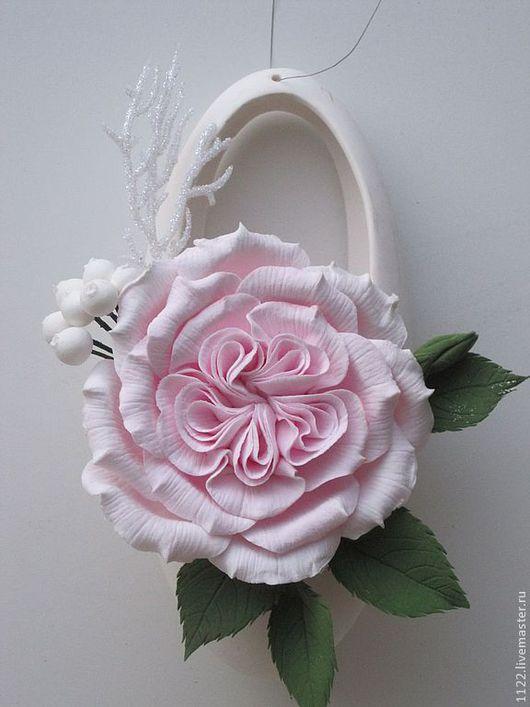 Интерьерные композиции ручной работы. Ярмарка Мастеров - ручная работа. Купить Английская роза. Handmade. Бледно-розовый