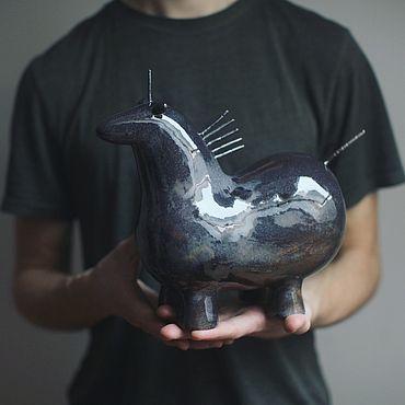 Для дома и интерьера ручной работы. Ярмарка Мастеров - ручная работа Лошадь. Целованная в тумане.. Handmade.