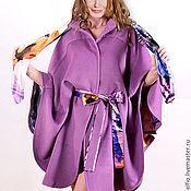 """Одежда ручной работы. Ярмарка Мастеров - ручная работа Пальто-пончо """"Габриэлла"""" из шерсти с кашемиром на шелковой подкладке. Handmade."""