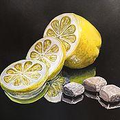 """Иллюстрации ручной работы. Ярмарка Мастеров - ручная работа Скетч """"Лимон и сахар"""". Handmade."""