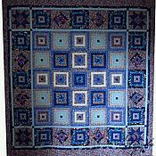Для дома и интерьера ручной работы. Ярмарка Мастеров - ручная работа лоскутное одеяло Сапфировый ларец. Handmade.