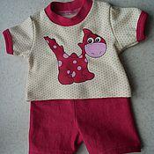 Куклы и игрушки ручной работы. Ярмарка Мастеров - ручная работа Одежда для беби Анабель (Baby Annabell) Динозаврик. Handmade.