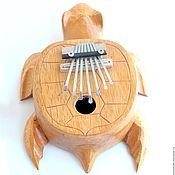 """Музыкальные инструменты ручной работы. Ярмарка Мастеров - ручная работа Калимба """"Черепаха"""" 24 см настроенная. Handmade."""