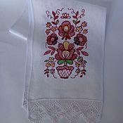 Русский стиль handmade. Livemaster - original item Embroidered towel - rushnyk. Russian pattern 2. Handmade.