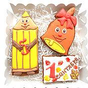 Пряники ручной работы. Ярмарка Мастеров - ручная работа Пряники на 1 сентября. Handmade.
