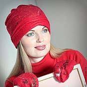 Caps handmade. Livemaster - original item Hat women`s felt..warm.. Handmade.