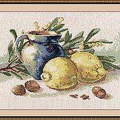 """Схемы для вышивки ручной работы. Ярмарка Мастеров - ручная работа Набор для вышивания: """"Натюрморт с лимонами"""" (РЕЗЕРВ). Handmade."""