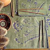 """Для дома и интерьера ручной работы. Ярмарка Мастеров - ручная работа Ланчмат оливковый """"Травы Прованса"""". Handmade."""