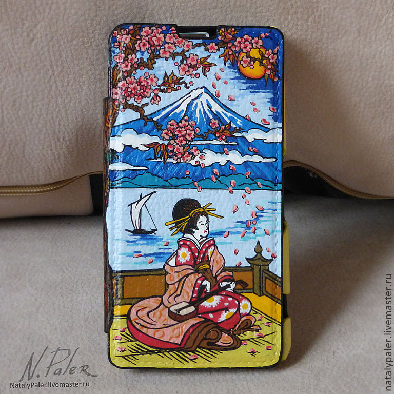 painting phone case for. ' The Motives Of Japan', Case, Moscow,  Фото №1