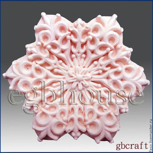 Другие виды рукоделия ручной работы. Ярмарка Мастеров - ручная работа. Купить Силиконовая форма Снежинка-7. Handmade. Розовый