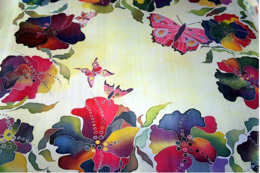 """Шарфы и шарфики ручной работы. Ярмарка Мастеров - ручная работа. Купить Платок """"Бабочки"""". Handmade. Комбинированный, ручная работа"""
