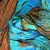 Аксессуары handmade. Livemaster - original item Scarf stole women`s long multicolored turquoise blue brown. Handmade.