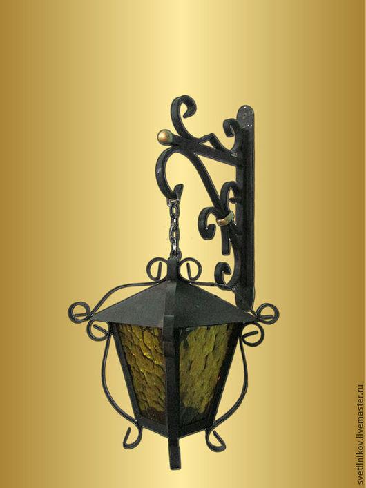 Экстерьер и дача ручной работы. Ярмарка Мастеров - ручная работа. Купить кованый светильник на цепи. Handmade. Ковка, освещение, металл