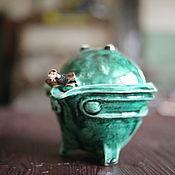 """Посуда ручной работы. Ярмарка Мастеров - ручная работа Гайвань """"зеленый чай"""". Handmade."""