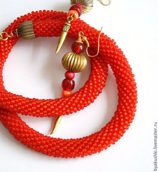 жгут `Оранжевый` из бисера
